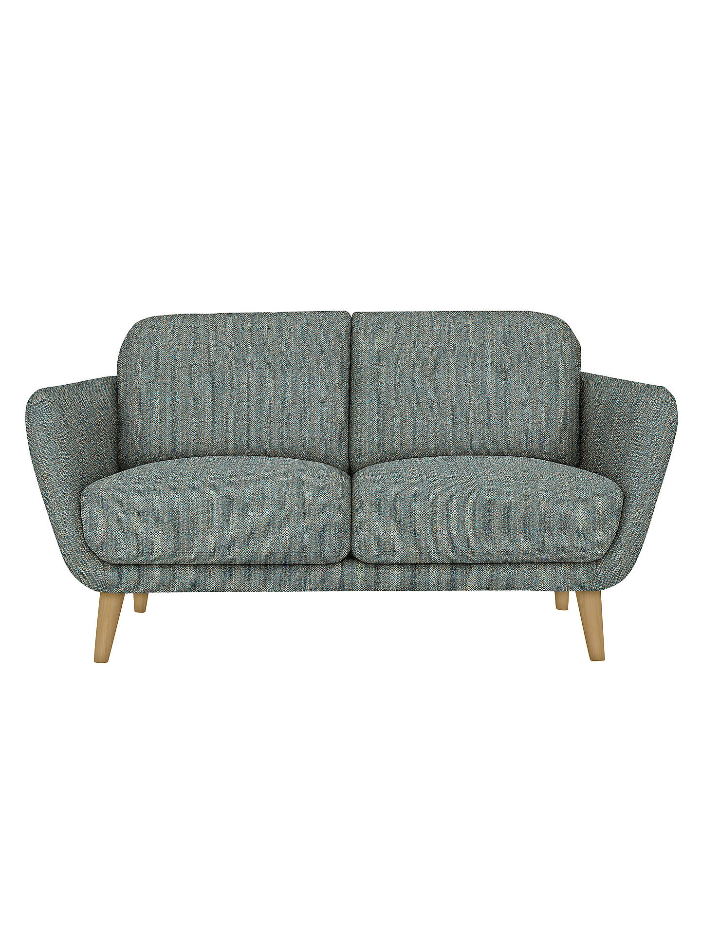 BuyHouse by John Lewis Arlo Small 2 Seater Sofa, Light Leg, Ffion Teal Online at johnlewis.com