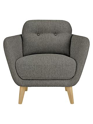 House by John Lewis Arlo Armchair, Light Leg