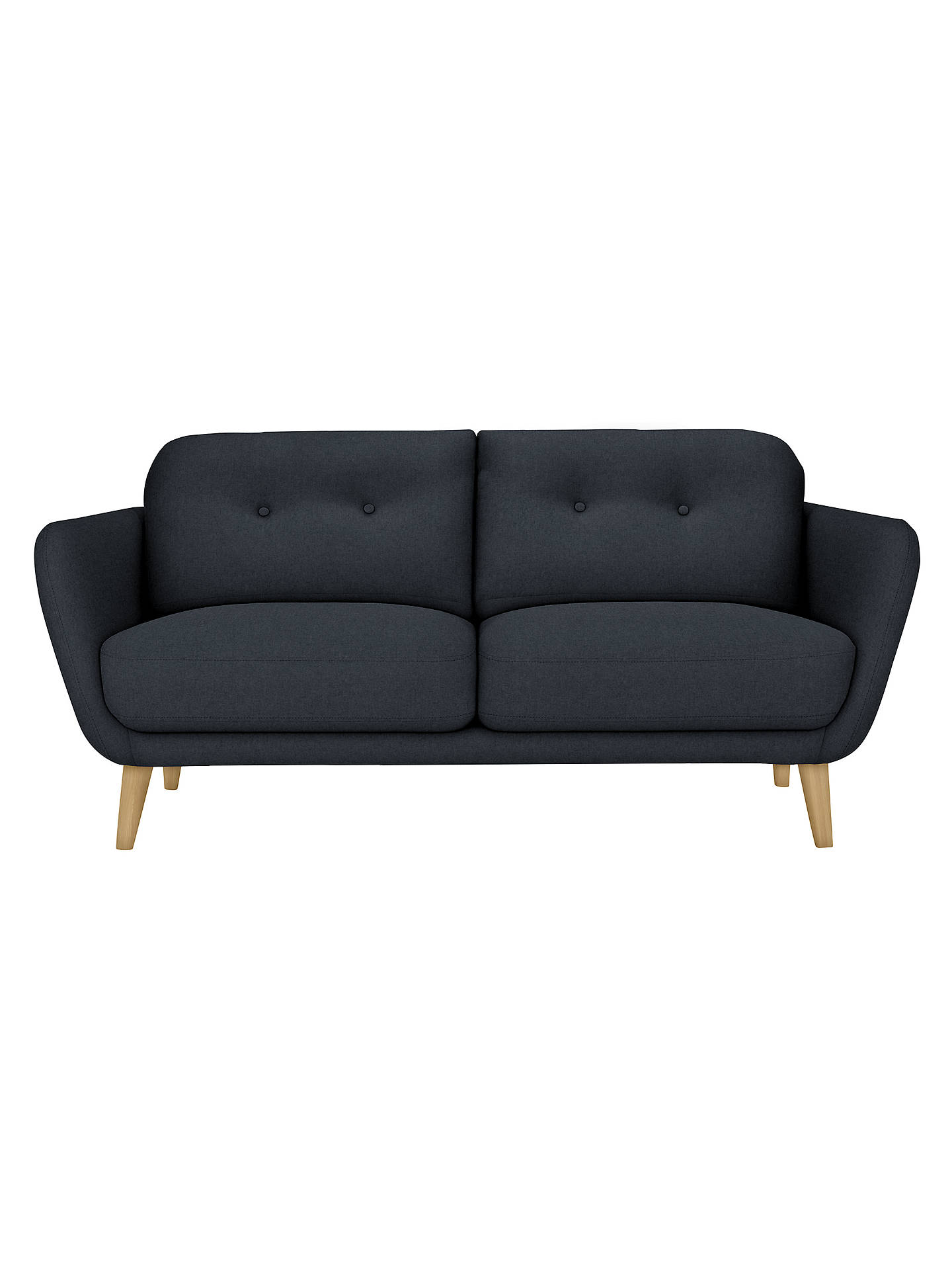 BuyHouse by John Lewis Arlo Medium 2 Seater Sofa, Light Leg, Dylan Charcoal Online at johnlewis.com