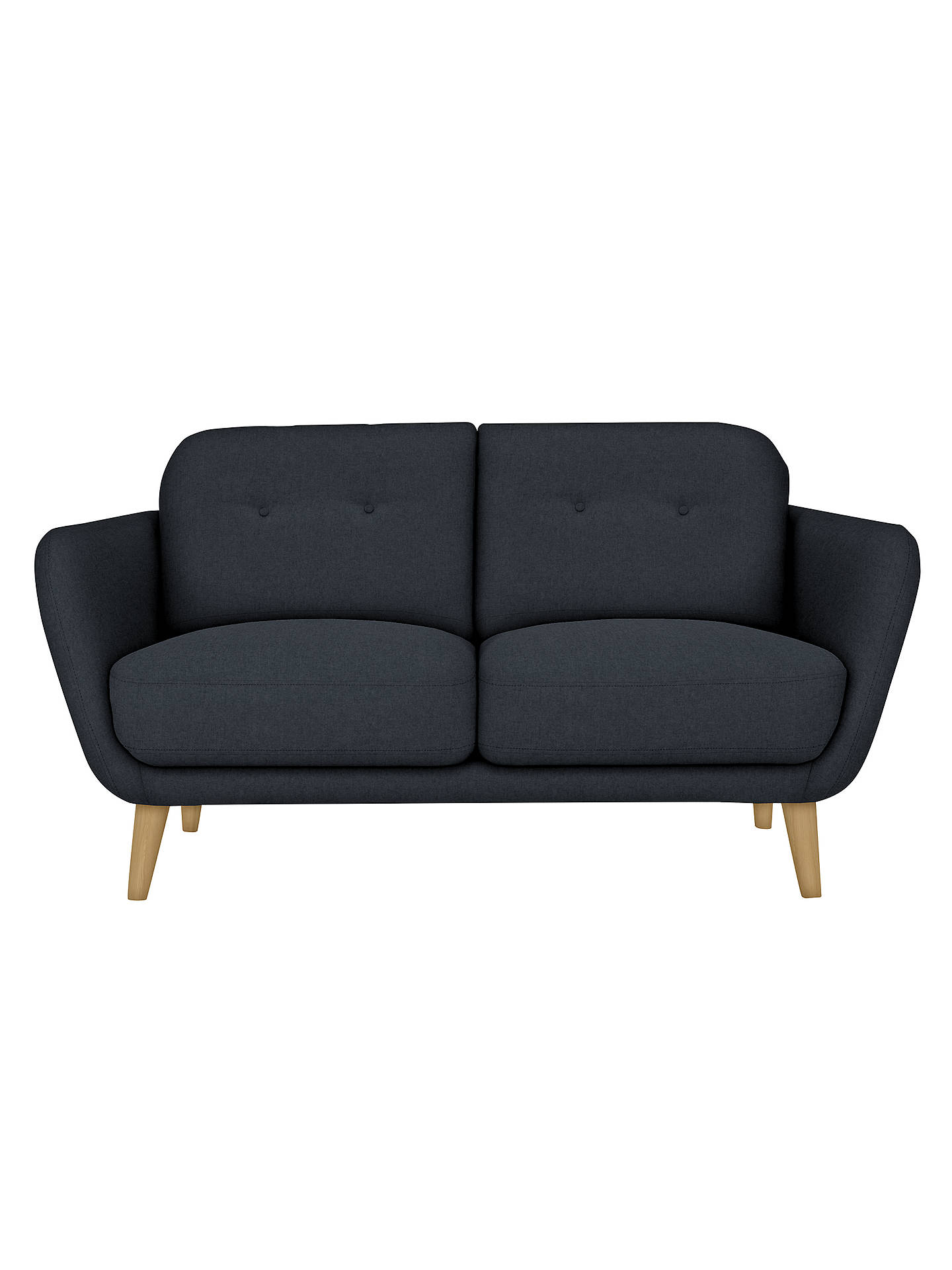 BuyHouse by John Lewis Arlo Small 2 Seater Sofa, Light Leg, Dylan Charcoal Online at johnlewis.com