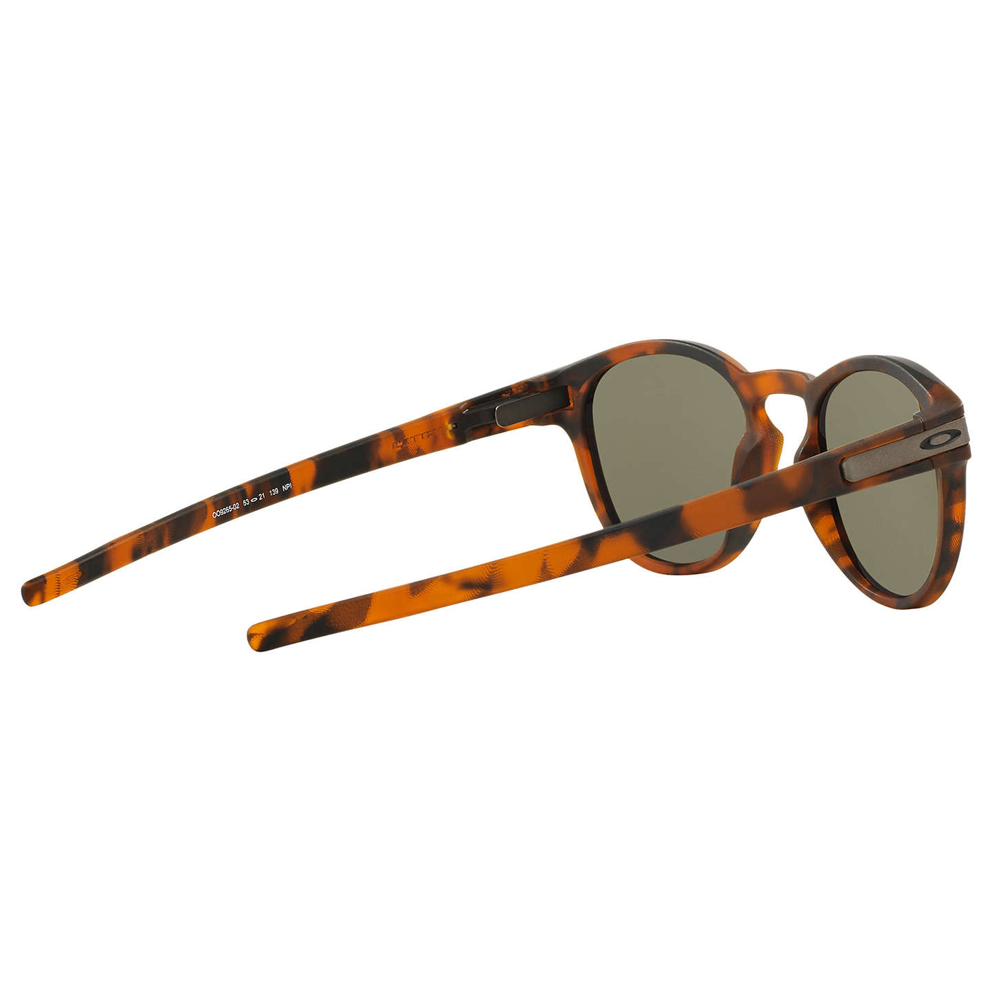 BuyOakley OO9265 Latch Round Sunglasses, Tortoise/Dark Green Online at johnlewis.com