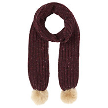 Buy Jigsaw Hana Donegal Pom Scarf Online at johnlewis.com