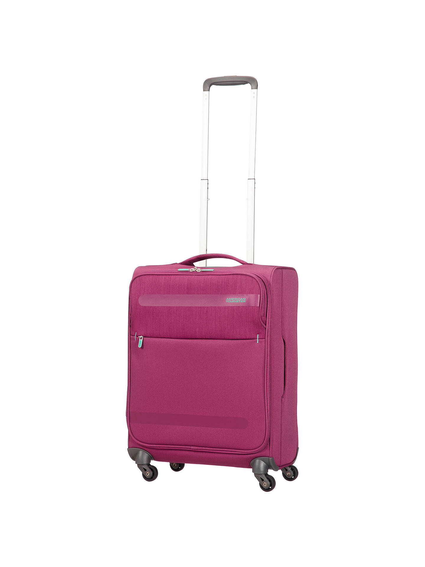 Buy American Tourister Herolite Lifestyle 4-Spinner Wheel 55cm Cabin Suitcase, Pomegranate Online at johnlewis.com