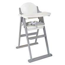Buy East Coast Folding Highchair, Grey/White Online at johnlewis.com
