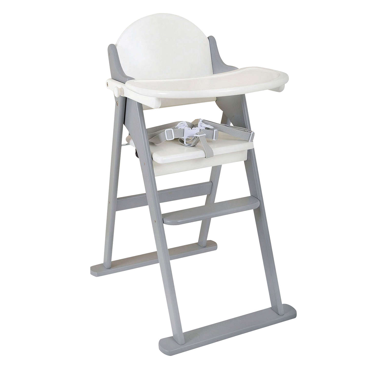 Lovely BuyEast Coast Folding Highchair, Grey/White Online At Johnlewis.com ...