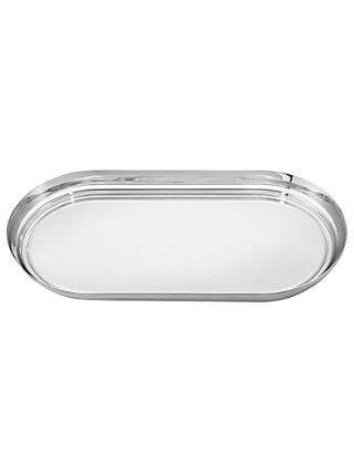 Georg Jensen Manhattan Tray with Leather Inlay