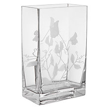 Buy John Lewis Sweet Pea Cube Vase, H21cm, Clear Online at johnlewis.com
