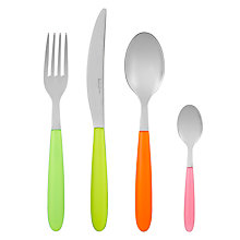 Buy House by John Lewis Vero Fluorescent Cutlery Set, 16 Piece Online at johnlewis.com