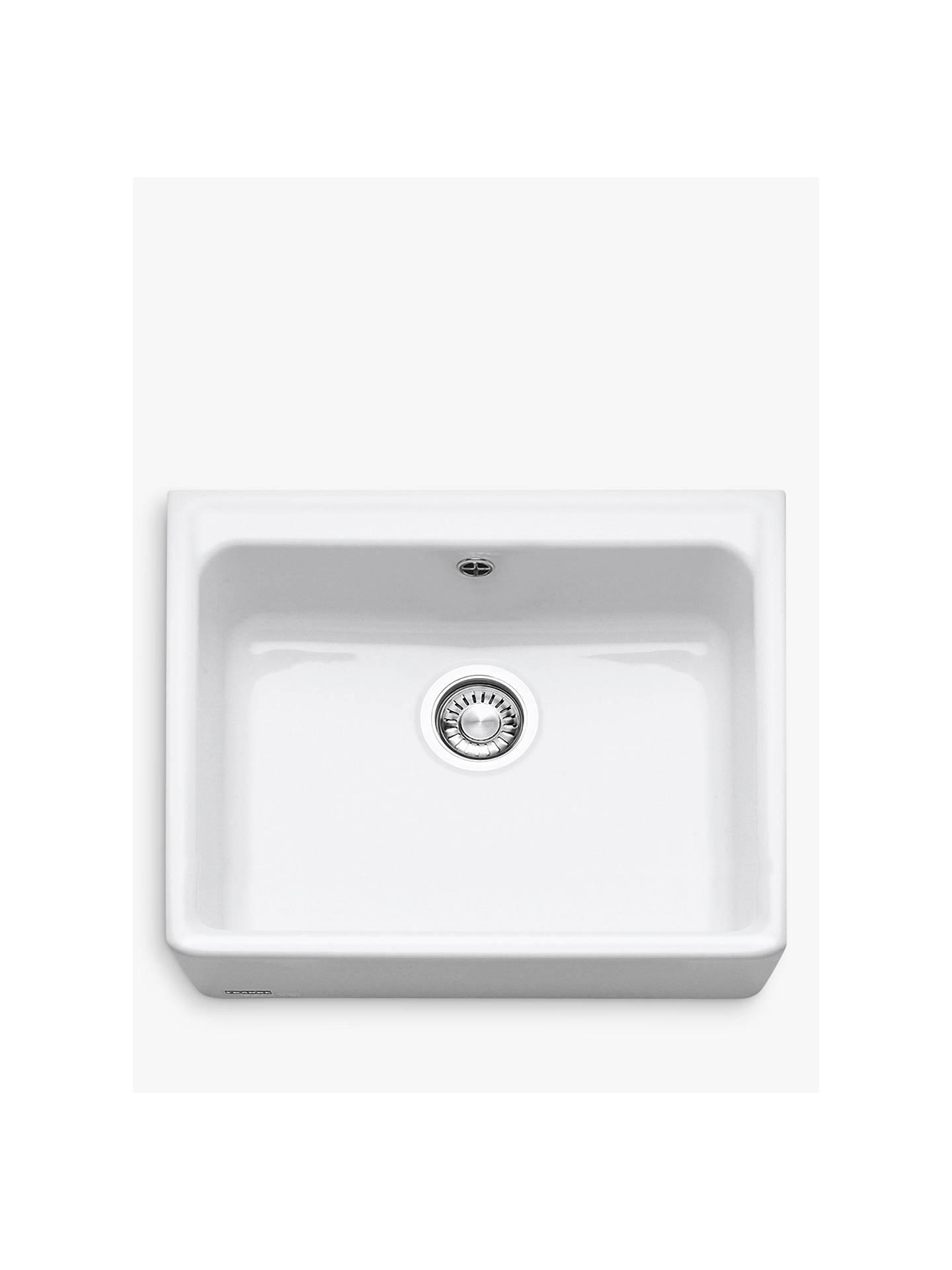 Franke Belfast VBK 710 Single Bowl Ceramic Kitchen Sink, White at ...