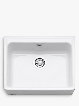 Franke Belfast VBK 710 Single Bowl Ceramic Kitchen Sink, White