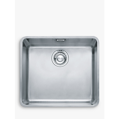 Franke Kubus KBX 110 45 Undermounted Single Bowl Kitchen Sink, Stainless Steel