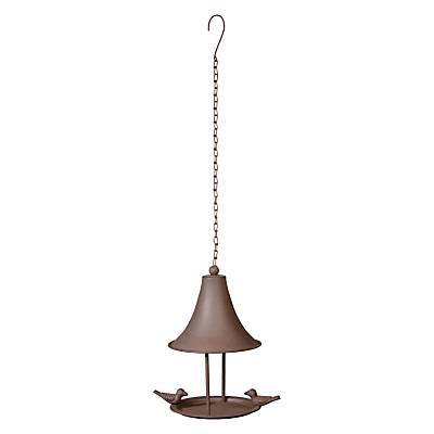 Ivyline Cast Iron Hanging Bird Feeder, Bronze