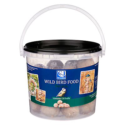 CJ Wildlife Wild Bird Food, Fat Balls, Bucket of 30