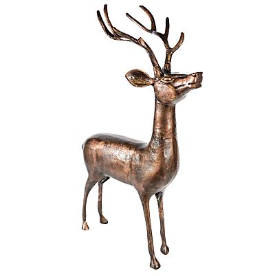Ivyline Stag Sculpture, 83cm, Bronze
