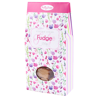 Milly Green Floral Clotted Cream Fudge, 150g