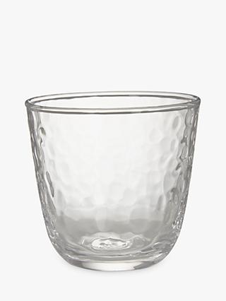 John Lewis & Partners Hammered Glass Tumbler, 280ml