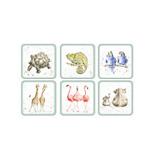 Buy Pimpernel Wrendale Zoological Coaster, Set of 6 Online at johnlewis.com