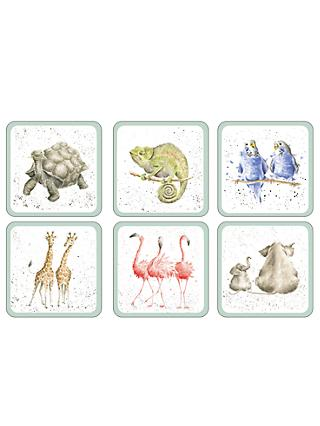 Pimpernel Wrendale Zoological Coaster, Set of 6