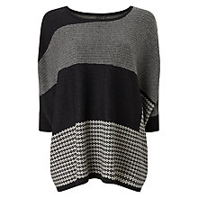 Buy Phase Eight Anita Patched Knitted Jumper, Black Online at johnlewis.com