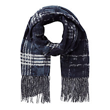 Buy East Abstract Check Scarf, Blue Online at johnlewis.com
