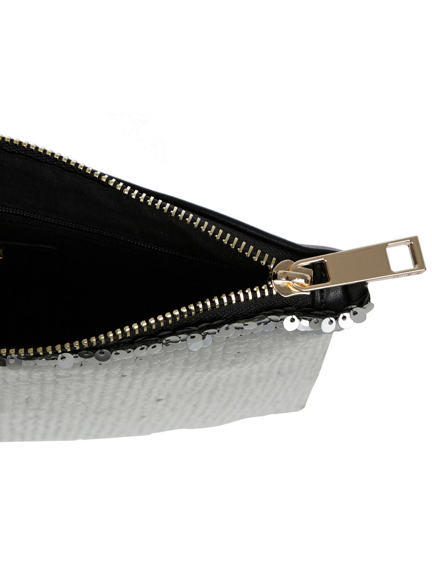 eb92338d15ab ... Buy Oasis Sequin Clutch, Silver Online at johnlewis.com ...