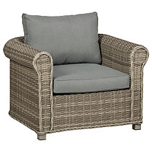 Buy Royalcraft Windsor Chunky Garden Armchair, Grey Online at johnlewis.com