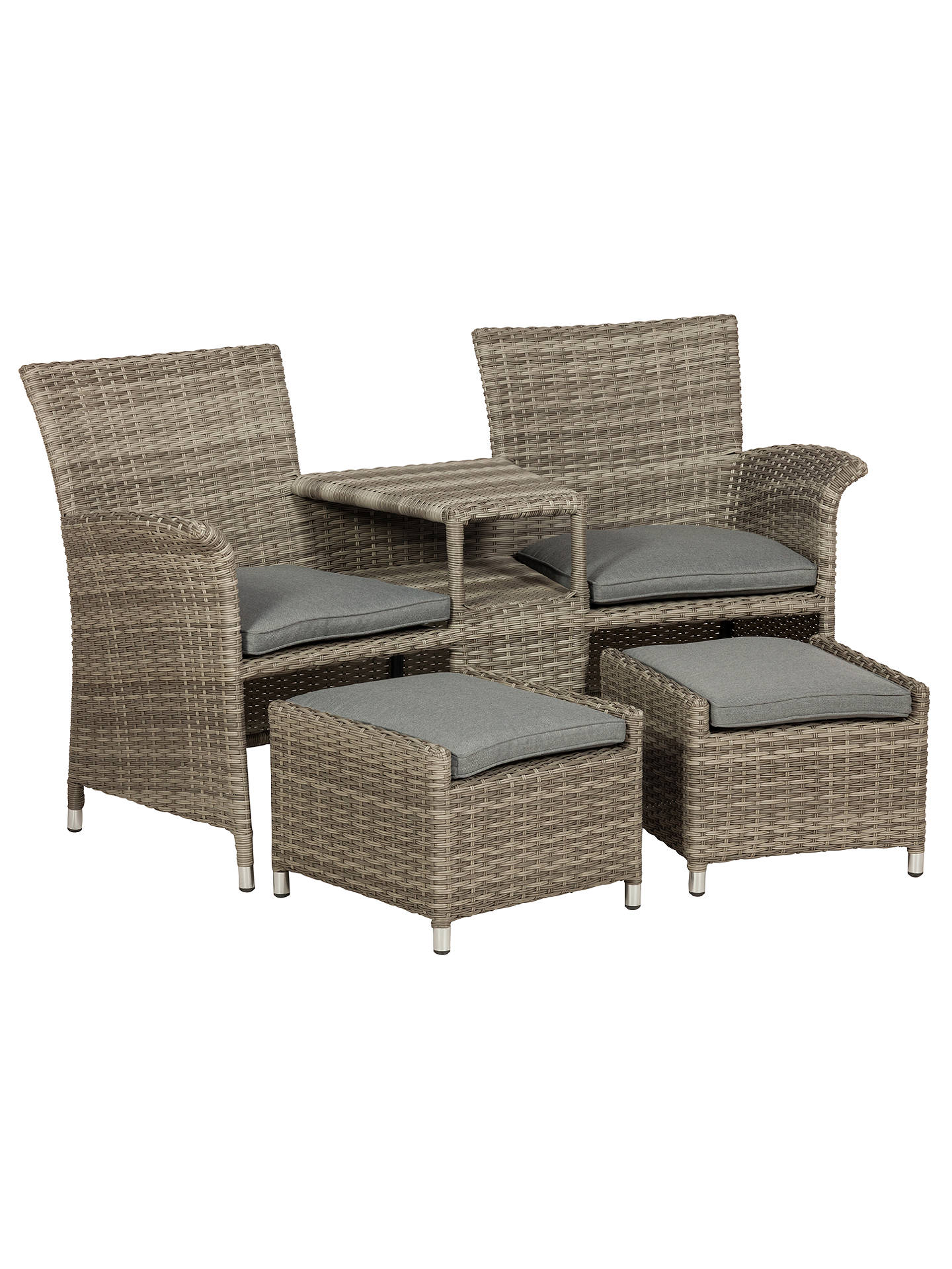 227199b57 Royalcraft Windsor Fixed Companion Garden Chairs Set With Stools ...
