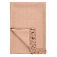 Buy John Lewis Croft Collection Herringbone Linen Throw Online at johnlewis.com