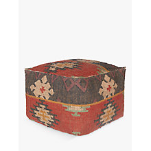Buy John Lewis Kelim Pouffe, Multi Online at johnlewis.com