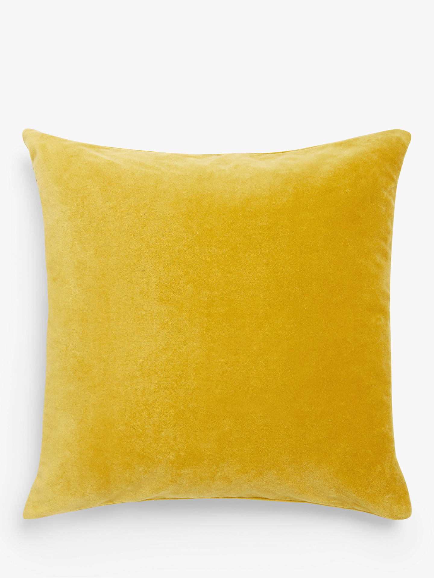 BuyJohn Lewis & Partners Cotton Velvet Cushion, Gold Online at johnlewis.com