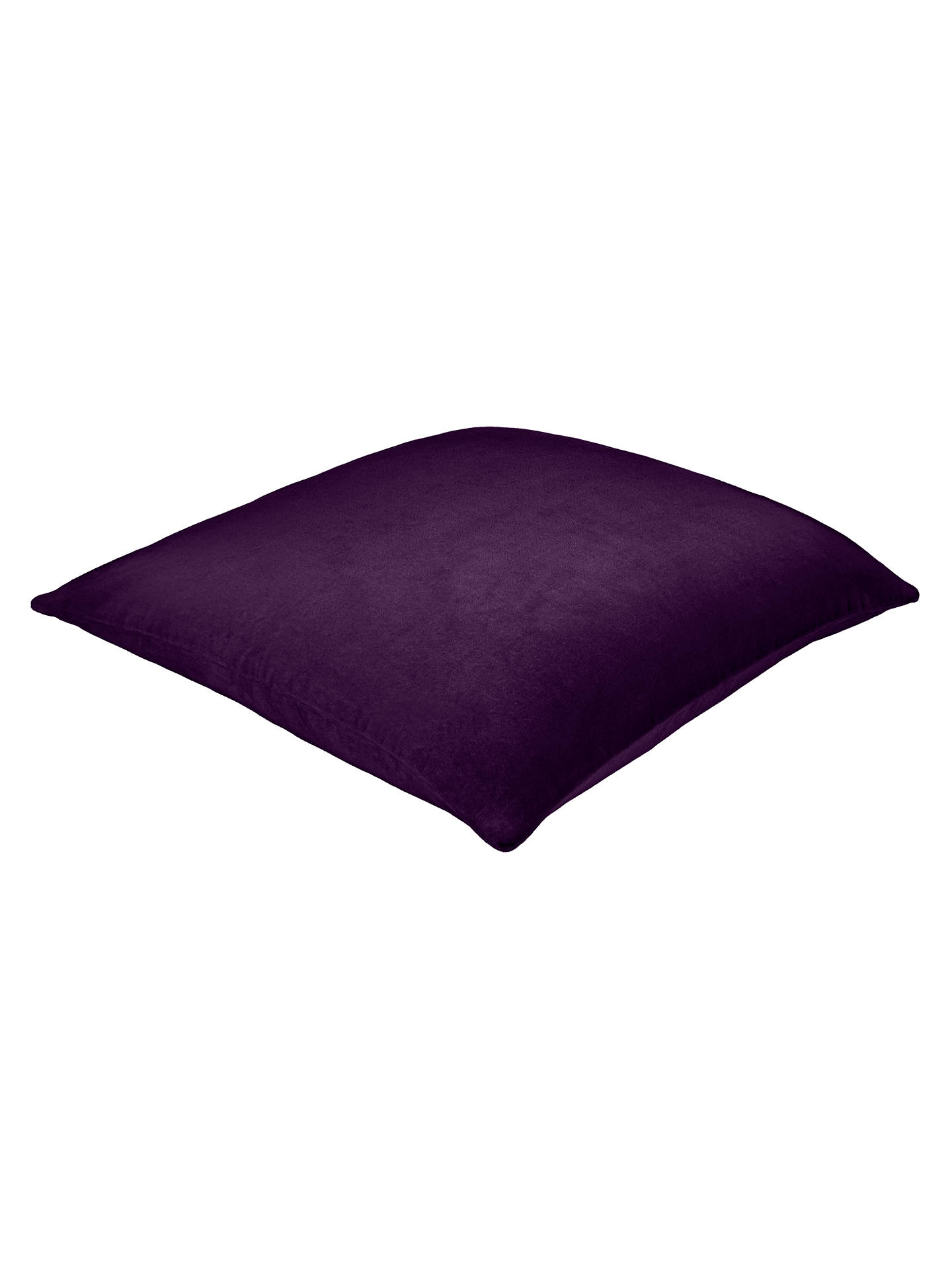 BuyJohn Lewis & Partners Cotton Velvet Cushion, Fig Online at johnlewis.com
