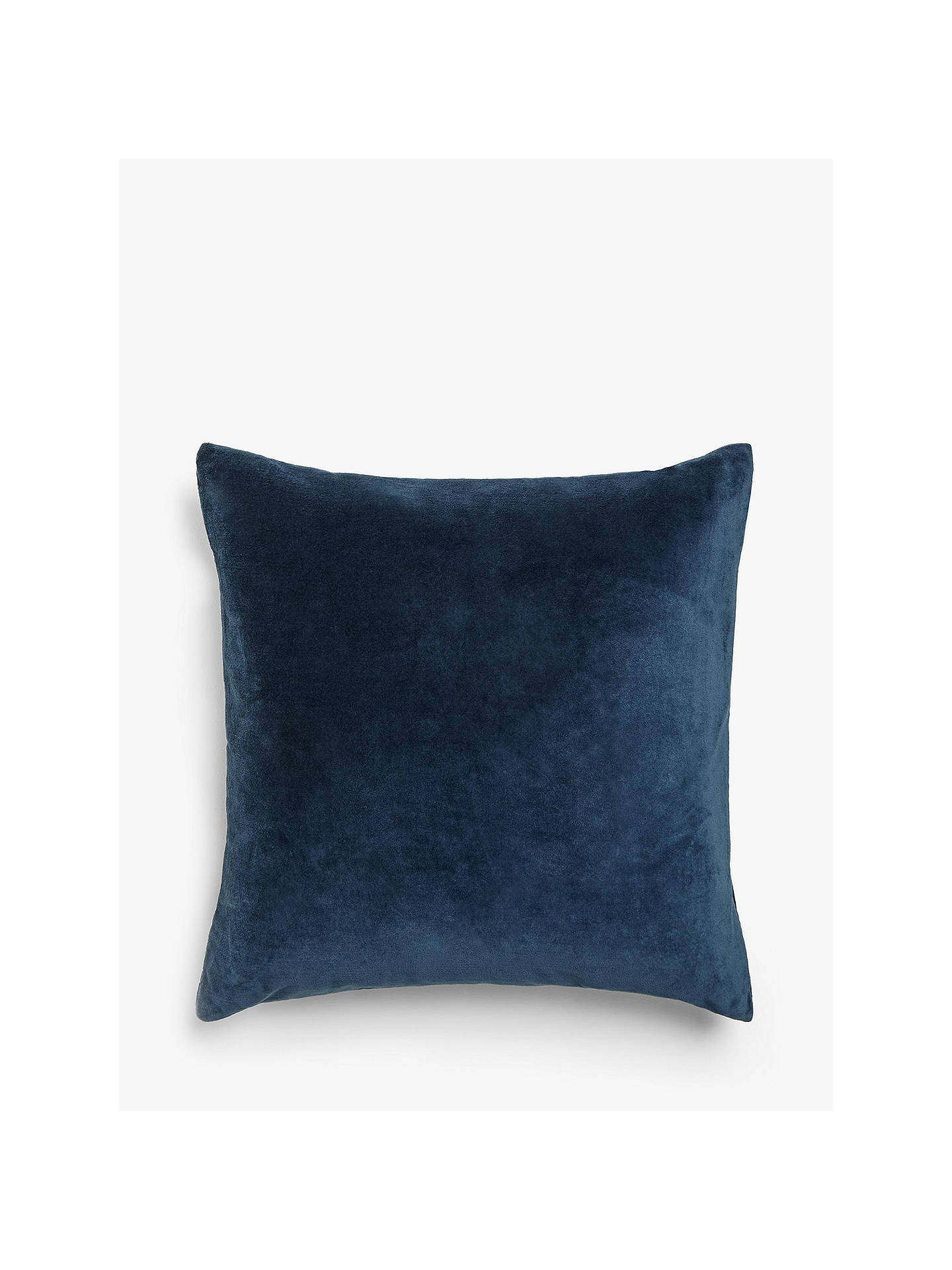 Buy John Lewis & Partners Cotton Velvet Cushion, Navy Online at johnlewis.com