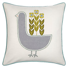 Buy John Lewis Scandi Bird Cushion. Multi Online at johnlewis.com