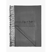 Buy John Lewis The Basics Acrylic Throw, Steel Online at johnlewis.com