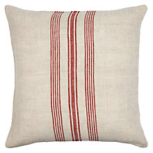 Buy John Lewis Whitby Stripe Cushion, Red Online at johnlewis.com