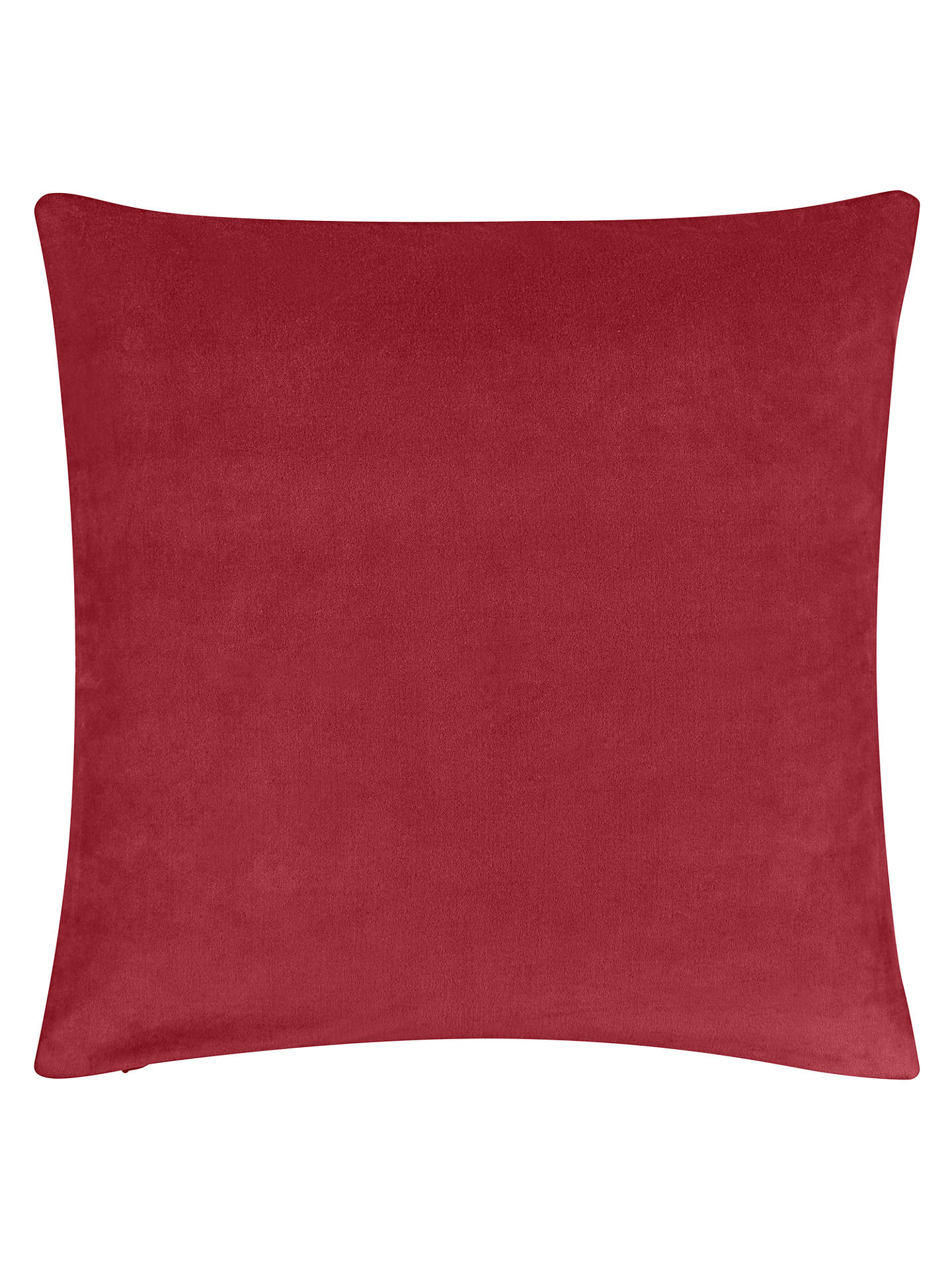 Buy John Lewis & Partners Cotton Velvet Cushion, Claret Online at johnlewis.com