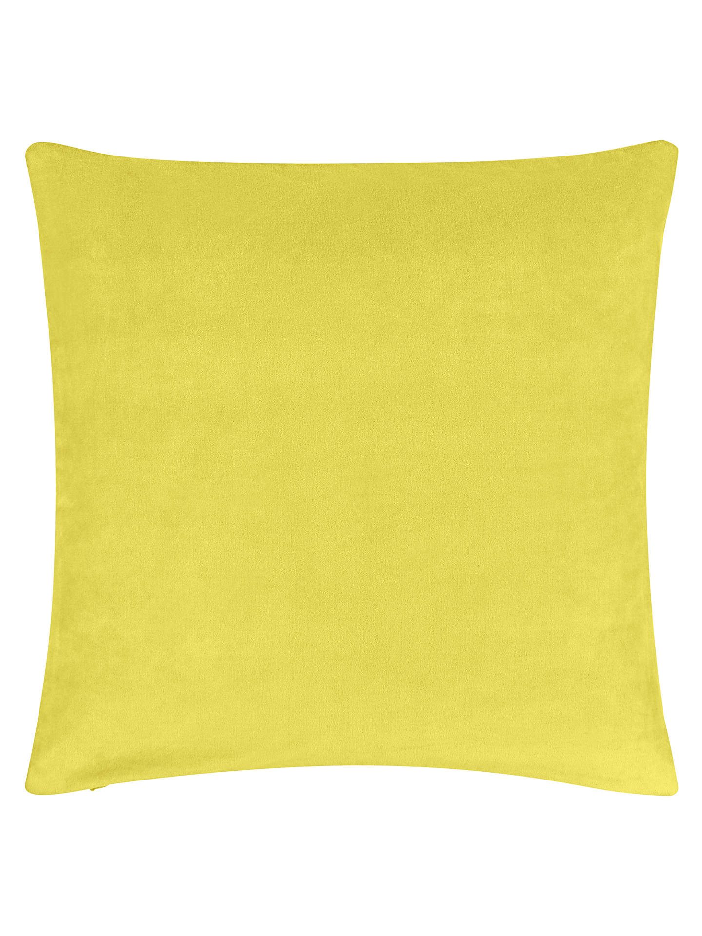 BuyJohn Lewis & Partners Plain Velvet Cushion, Citrine Online at johnlewis.com