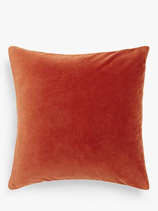 John Lewis & Partners Cotton Velvet Cushion