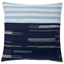Buy west elm Silk Ikat Cushion, Nightshade Online at johnlewis.com