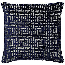Buy west elm Allover Crosshatch Jacquard Velvet Cushion Online at johnlewis.com