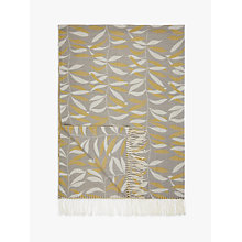 Buy John Lewis Lina Throw, Citrine Online at johnlewis.com