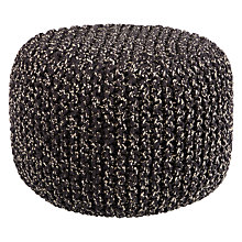 Buy House by John Lewis Chunky Knit Pouffe Online at johnlewis.com