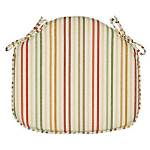 Buy John Lewis Catalan Stripe Seat Pad Online at johnlewis.com