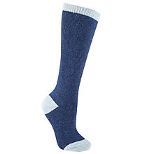 Buy John Lewis Wool and Silk Blend Knee High Socks, Navy/Sky Blue Online at johnlewis.com