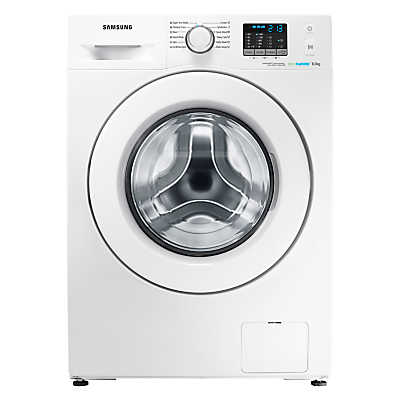 Image of Samsung WF8EF5E0W4W Freestanding Washing Machine, 8kg Load, A+++ Energy Rating, 1400rpm Spin, White