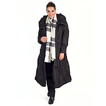 Buy Chesca Check Blanket Scarf, Black/Ecru Online at johnlewis.com
