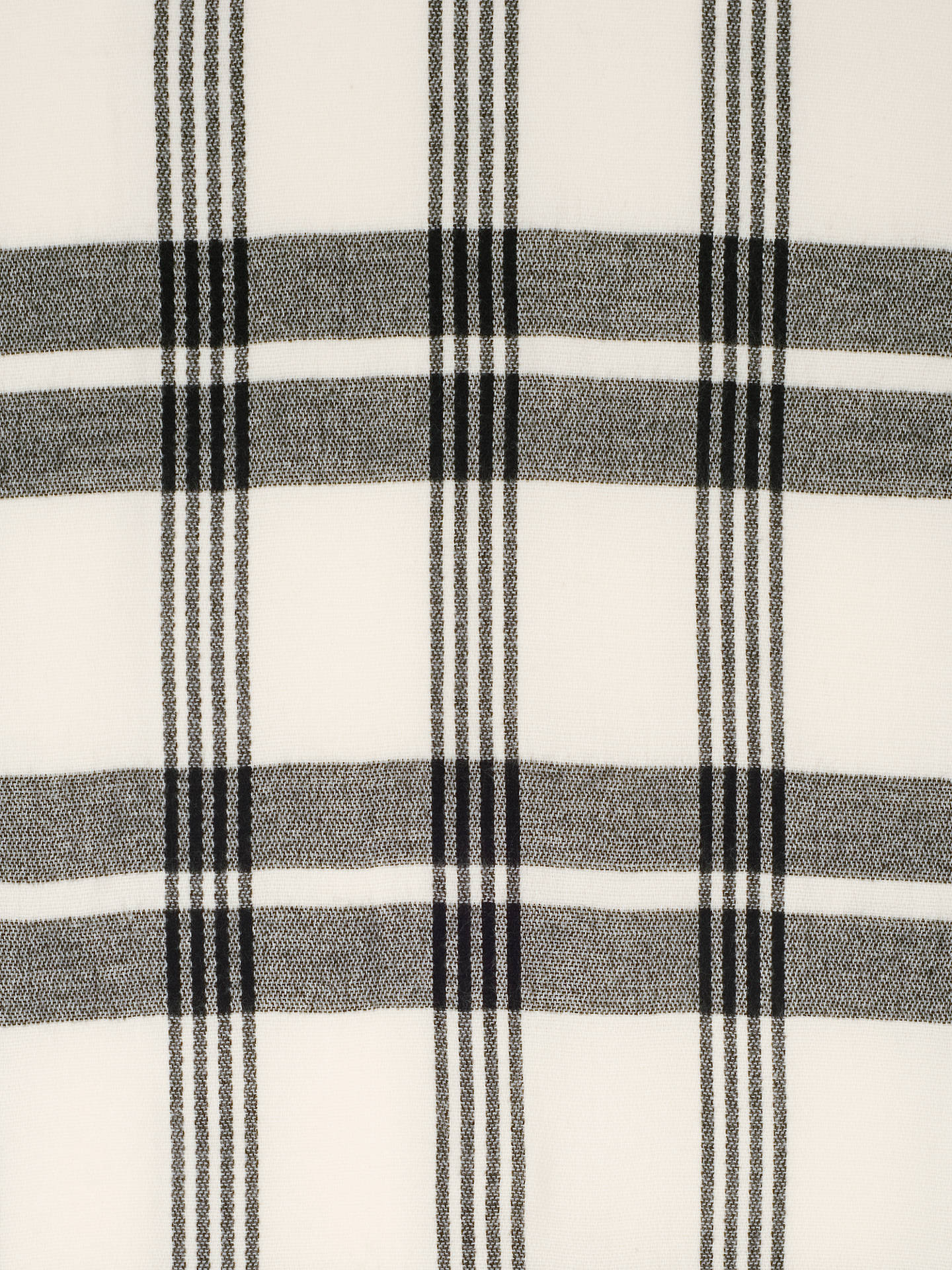 BuyChesca Check Blanket Scarf, Black/Ecru Online at johnlewis.com