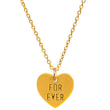 Buy Dogeared For Ever Heart Pendant Necklace, Gold Online at johnlewis.com