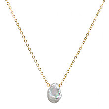 Buy Dogeared Pearls of Happiness Keshi Pendant Necklace, Gold Online at johnlewis.com