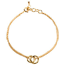 Buy Dogeared Friendship Linked Rings Charm Reminder Bracelet Online at johnlewis.com